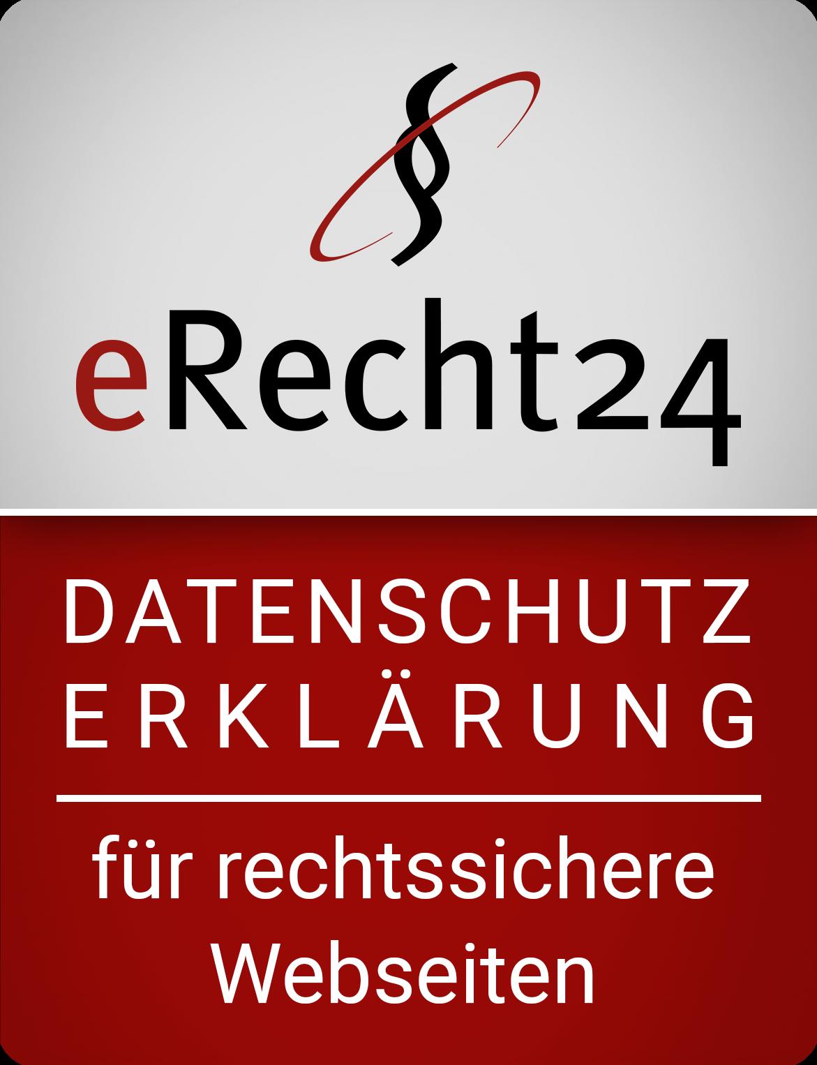 eRecht24 Siegel Ddatenschutz
